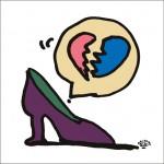 秋山孝が2009年に描いたイラスト「Unrequited love 片思い」