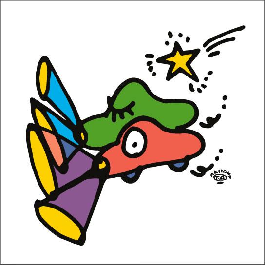 秋山孝が2009年に制作したイラスト「Compatibility 新しい試み」