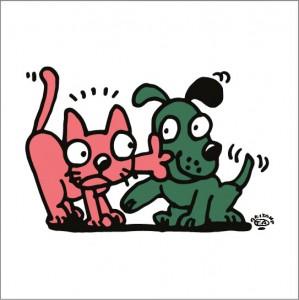 秋山孝が2009年に制作したイラスト「New departure 相性」