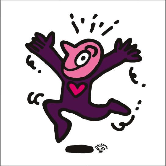 秋山孝が2009年に描いたイラスト「Unexpectedness 予期せぬ出来事」