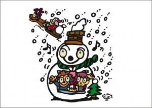 秋山孝が2009年に制作したイラスト「Xmas クリスマス」