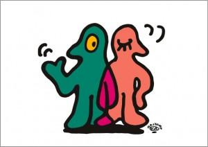 秋山孝が2009年に制作したイラスト「X-ray エックス線」