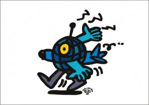 秋山孝が2009年に描いたイラスト「Yaw 偏走」