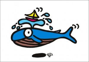 秋山孝が2009年に制作したイラスト「Yacht race ヨットレース」
