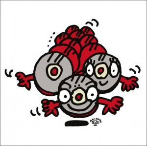 秋山孝が2009年に制作したイラスト「Strage madia 記憶媒体」