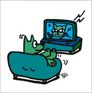 秋山孝が2010年に制作したイラスト「Living room 居間」