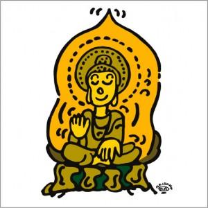 秋山孝が2010年に制作したイラスト「Buddhism 仏教」