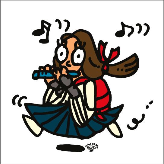 秋山孝が2010年に制作したイラスト「Kagura 神楽」