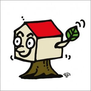 秋山孝が2010年に制作したイラスト「Tree house ツリーハウス」