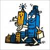 秋山孝が2010年に制作したイラスト「Subsidiary 子会社」