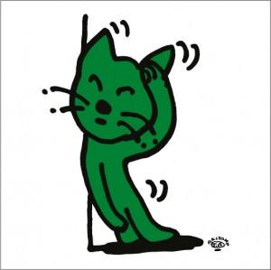 秋山孝が2010年に制作したイラスト「Cat 猫」