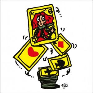 秋山孝が2010年に制作したイラスト「Cards トランプ」