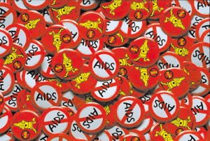 エイズキャンペーン・キャラクターバッジ ストップ エイズ シンボルマーク