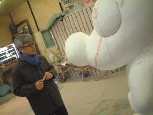東武動物公園のイメージキャラクタートッピー像の制作過程4