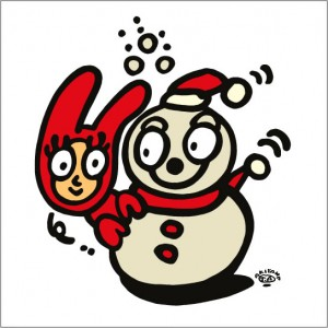 秋山孝が2009年に制作したイラスト「Winter vacation 冬休み」