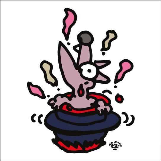 秋山孝が2010年に制作したイラスト「Boiling 沸騰」  Date :   2010 ?秋