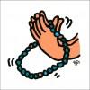 秋山孝が2010年に制作したイラスト「Rosary 数珠」