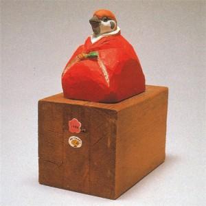 ポスターアーティスト秋山孝が1979年から1984年に制作した立体作品「バードカービング|bird carving」