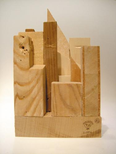 イラストレーター秋山孝が2002年に制作したオブジェ「Takashi Akiyama's Object (New York・Manhattanシリーズ)_NY12」