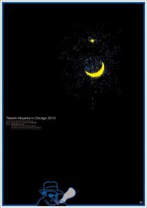 秋山孝が2010年にCIPBA(シカゴ国際ポスタービエンナーレ協会)からの依頼により制作したポスター「Takashi Akiyama in Chicago 2010」