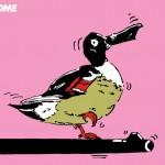 ポスターアーティスト秋山孝がエコロジーをテーマに1981年に制作したポスター「 Welcome (common shoveller)」