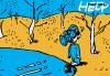 ポスターアーティスト秋山孝がエコロジーをテーマに1984年に制作したポスター「Wild Life - Help (gas mask)」