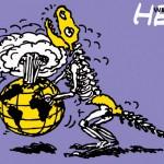 ポスターアーティスト秋山孝が1984年にエコロジーをテーマに制作したポスター「Wild Life - Help (dinosaur) 」