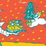 ポスターアーティスト秋山孝が社会をテーマに1986年に制作したポスター「Present (tree)」
