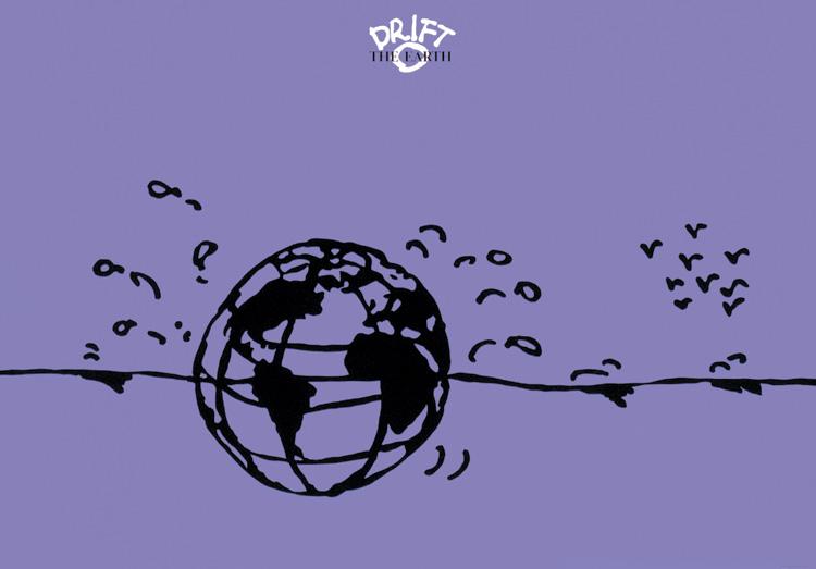 イラストレーター秋山孝が2009年に制作したイラスト「Drift - The Earth」
