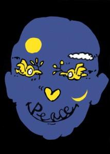 ポスターアーティスト秋山孝が1988年に制作したポスター「Peace Face」