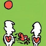 ポスターアーティスト秋山孝が1988年に社会をテーマに制作したポスター「The Equality of People - Communication」