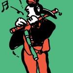 ポスターアーティスト秋山孝が1989年にストライプハウス美術館からの依頼により制作したポスター「Bird Art Week (manet)」