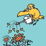 秋山孝が1989年に制作したポスター「Manner Up (flower) 」