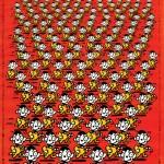 秋山孝が1989年に文化をテーマに制作したポスター「Wanpaku (red)」