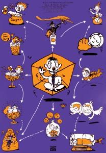 秋山孝が1990年に文化をテーマに制作したポスター「Words of The Left Handed (family of potpourri)」