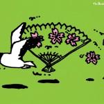 秋山孝が1991年にエコロジーをテーマに制作したポスター「The Birds of Sumida (miyakodori) 」