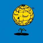秋山孝が1991年にエコロジーをテーマに制作したポスター「Environment Month (blue) 」