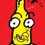 秋山孝が1992年にエイズをテーマに制作したポスター「Aids Condom Boy (baby)」