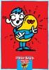 秋山孝が1992年に社会をテーマに制作したポスター「Jinzo Bank」