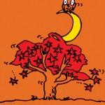 秋山孝が1992年に秋をテーマに制作したポスター「Autumn」