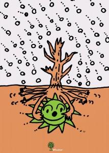 秋山孝が1992年にエコロジーをテーマにして制作したポスター「Winter」