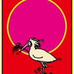 秋山孝が2012年にトキをテーマに制作したポスター「越後百景・十選一番「ニッポニアニッポン・トキ」」