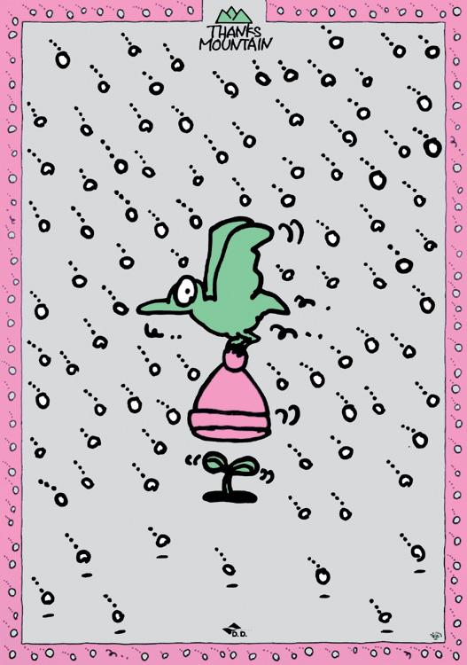 秋山孝が1995年に制作したポスター「Thanks Mountain (cap) 」