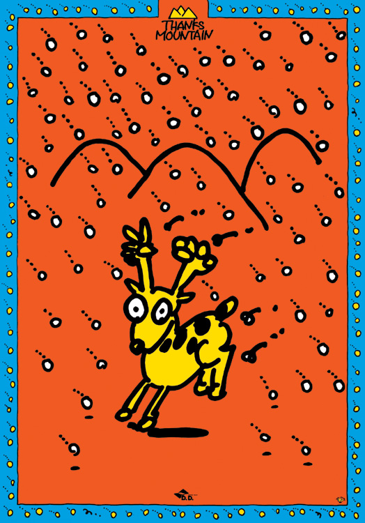 秋山孝が1994年に制作したイラスト「Thanks Mountain (dear) 」