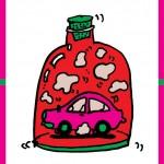 秋山孝がエコロジーをテーマに1996年に制作したポスター「Save The Earth-Air (car) 」