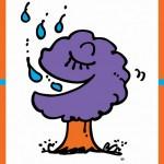 イラストレーター秋山孝が1996年にエコロジーをテーマに制作したポスター「Save The Earth-Water (rain)」