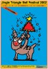 ポスターアーティスト秋山孝が2002年に文化をテーマに制作したポスター「Jingle Triangle Bell Festival 2002」