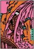 ポスターアーティスト秋山孝が2002年に田保橋 淳へのオマージュとして制作したポスター「オマージュ、田保橋 淳」