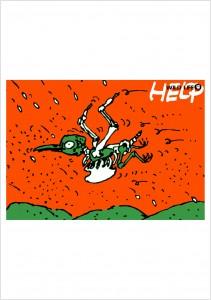 ポスターアーティスト秋山孝が1984年に制作したアートカード「アートカード ポスター 1984 08」