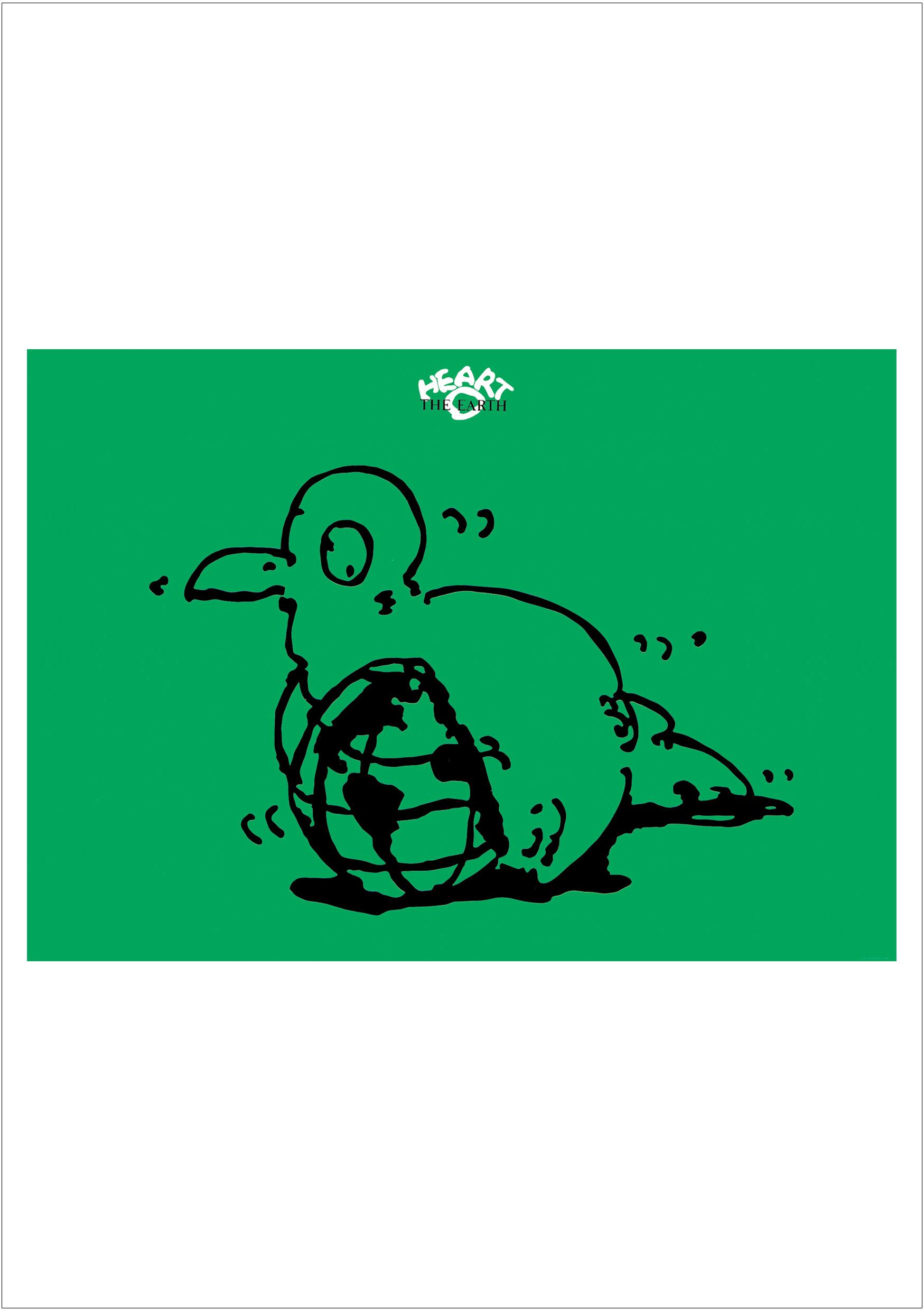 ポスターアーティスト秋山孝が1987年に制作したアートカード「アートカード ポスター 1987 01」